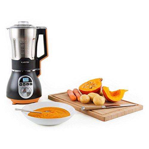 Klarstein 10027585 Batidora de vaso 1.75L 450W Negro, Naranja, Acero inoxidable - Licuadora (Batidora de vaso, 1,75 L, Negro,...