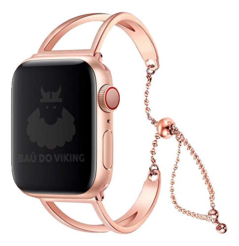Pulseira Aço Inoxidável Pendant, compatível com Apple Watch (Rose Gold, 44mm)