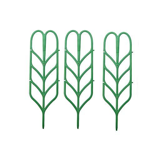 12 enrejados de jardín para mini plantas trepadoras soporte miniatura hoja enrejado 4 pulgadas de ancho x 14 pulgadas de alto, verde