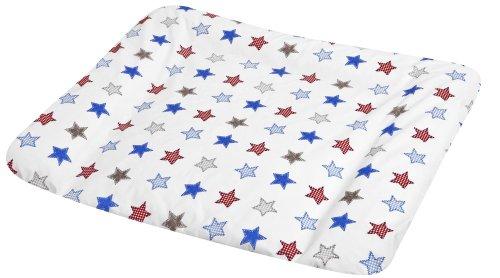 myJulius 2280111673 Wickelauflage Softy mit Stoffbezug Stars, 75 x 85 cm