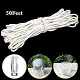 YsesoAi 50 Feet Self Watering Wick Cord for Vacation Self-Watering...