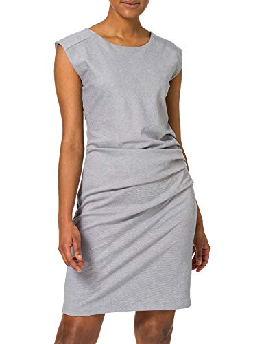 Kaffe Damen Cocktail Kleid India Slim Dress, Midi, Gr. 40 (Herstellergröße: L), Grau (Grey melange 50015)