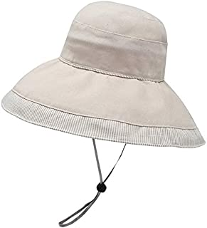 CHENDX Hat Female Stitching Large Folding Fisherman Hat Spring and Summer Cycling UV Protection Sun Visor (Color : Beige)