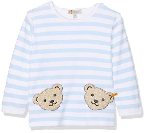 Steiff Collection Steiff Unisex - Baby Sweatshirt, gestreift Doppelbären Shirt 0002891, Gr. 56, Blau (baby blue)