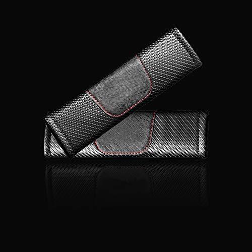 Funda para cinturón de seguridad de fibra de carbono con diseño de S Line, para Audi A1 A3 A4 A6 A8 A7 TT Q3 Q5 Q7 RS3 RS5 RS7