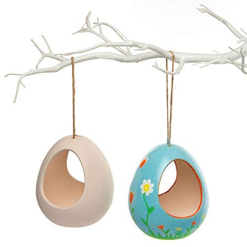 Baker Ross Bastelsets für Futterhäuschen aus Keramik zum Bemalen, Gestalten und Aufhängen (2 Stück)