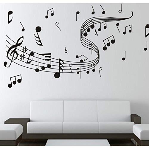 Grandes notas musicales Personal Hoja de música Grabación de audio Estudio Cantante Guitarra Vinilo Etiqueta de la pared Calcomanía Dormitorio Sala de estar Club Oficina Decoración para el h