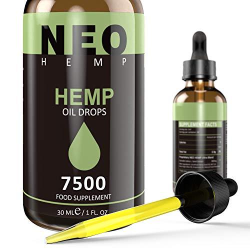Premium High Strength Oil 7500MG (30ML), Maximum Value Natural Supplement - Rich in Omega 3-6-9 | Vegan