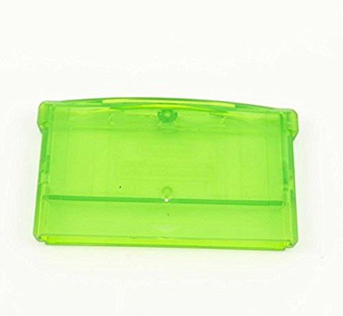 Game Cartridge - Carcasa transparente de repuesto para cartuchos de Game Boy (Advance, SP y Micro) y Nintendo (DS y DS Lite) con alojamiento para tornillo. Color: verde