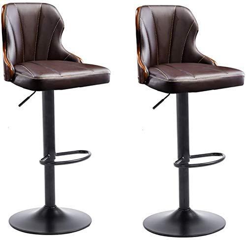 FTFTO Haushaltsprodukte Barhocker Set mit 2 Esszimmerstühlen aus Kunstleder an der Rezeption im Post Modern Style Hochhocker Hotel Bar Küchencomputersessel