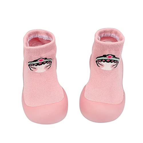 YWLINK Zapatos De Calcetines Antideslizante De Bebé NiñAs NiñOs Botas De CalcetíN con Suela De Goma para Bebé Unisex Zapatos De Primer Caminante NiñO/NiñA Calcetines De Malla Suave Suela De Goma