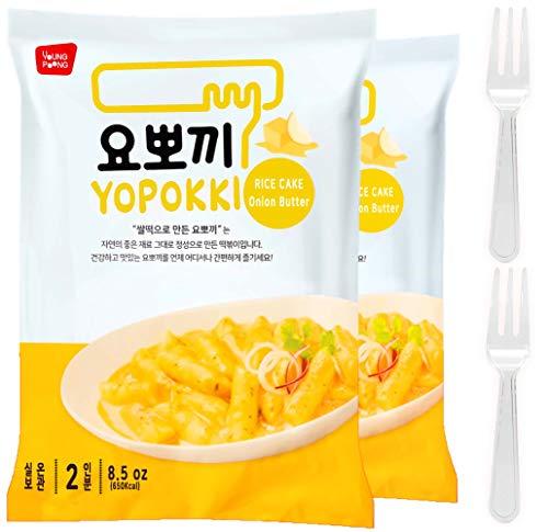 Instant Jjajang Tteokbokki Rice Cake | Pack Of 2 Popular Korean Snack With A Jjajang Sauce