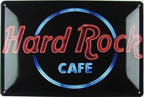 Generisch Blechschild 20x30 cm gewölbt Retro Hard Rock Cafe Geschenk Magnet-Metall-Schild mit Sprüchen Vintage lustige Türschilder Bier Nostalgie Schild Deko Bar-Schild Beer Motiv