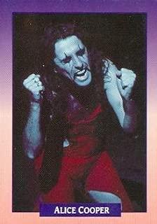 Alice Cooper trading card (The Godfather of Shock Rock) 1991 Brockum Rock Music #165 Checklist