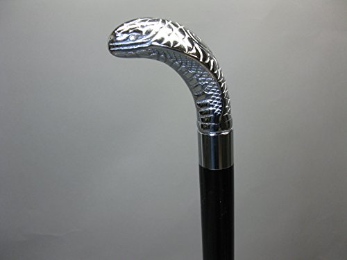 Uitschuifbare wandelstok wandelstok wandelstok edelhout zilver Cobra kapiteinstok 91 cm M85 Walking Stick met geheim vak