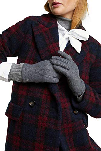 ESPRIT Accessoires Damen 100EA1R308 Winter-Handschuhe, 030/GREY, S