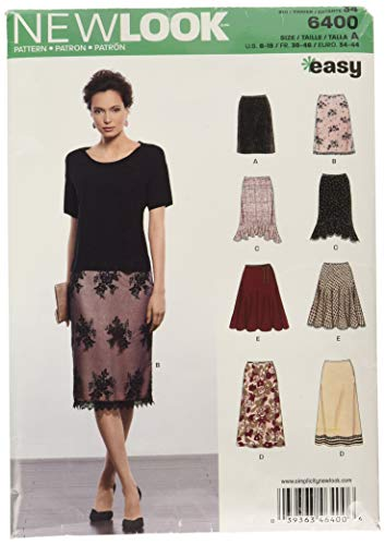 New Look Sewing Pattern UN6400A Autumn Collection Misses' Skirts in Various Styles Sewing Patterns, A (8-10-12-14-16-18)
