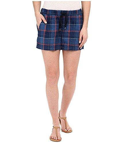 Splendid Women's Casta Plaid Shorts Dark Wash Small 3