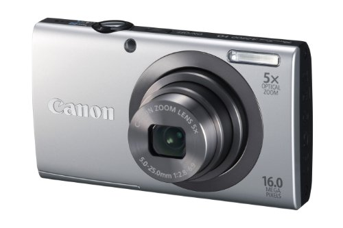Canon PowerShot A2300 Digital Camera - Silver (16.0 MP, 5x Optical Zoom) 2.7 inch LCD