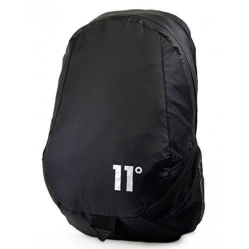 11 DEGREES Nylon Ripstop Backpack Black Schoolbag 11D-2035 Eleven DEGRES Bags