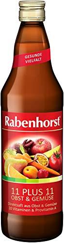 Rabenhorst 11 Plus 11 Obst und Gemüse, 6er Pack (6 x 700 ml)