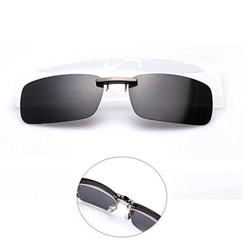 Shsyue Montura con clip de gafas de sol polarizadas para conducción nocturna