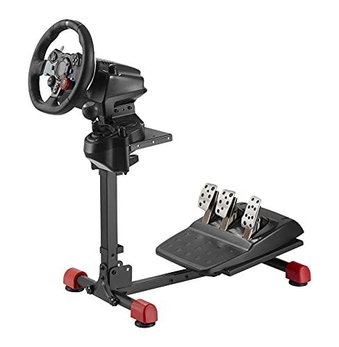 Wheel stand GT - Support Universel pour Volant, pédalier et boite de vitesse compatible avec tous les produits Logitech, Thrustmaster et Fanatec. Simulation automobile et simracing setup.