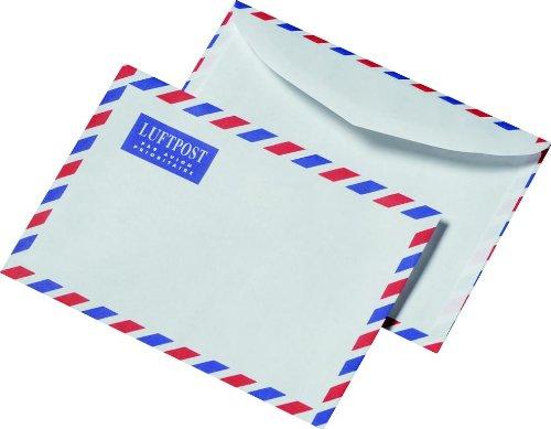 100 Luftpost Briefumschläge Din C6 Luftpostumschläge