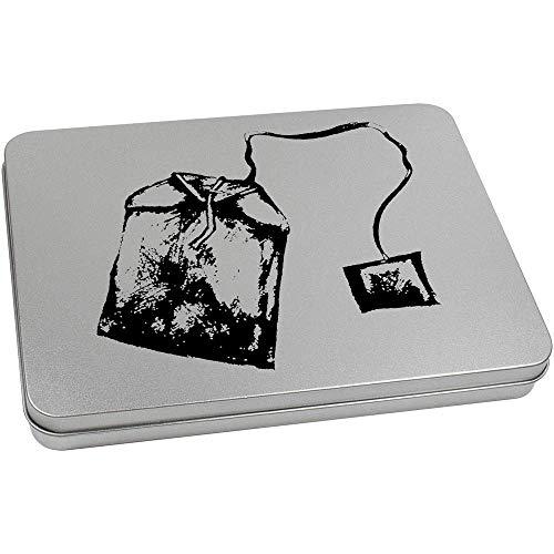 Azeeda 220mm x 160mm 'Teebeutel' Blechdose / Aufbewahrungsbox (TT00120146)