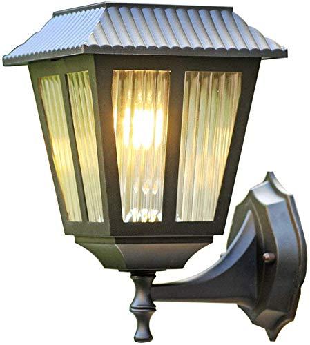 ZCCLCH Lámpara de Pared Retro de Claro Acanalado Cristal Impermeable al Aire Libre Rust luz del jardín, Carcasa de Metal Jardín Terraza Villa Corredor Patio balcón al Aire Libre Pasillo