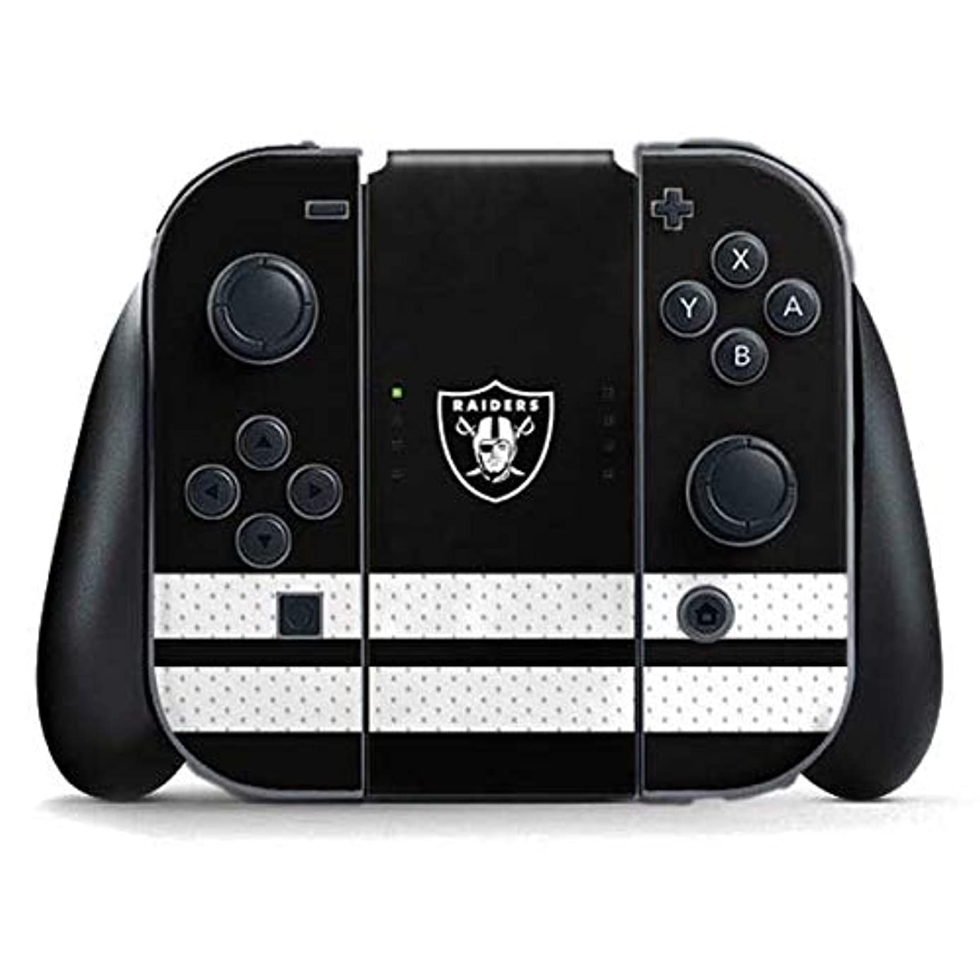Skinit Oakland Raiders Shutout Nintendo Switch Joy Con Controller Skin - Officially Licensed NFL Gaming Decal - Ultra Thin, Lightweight Vinyl Decal Protection