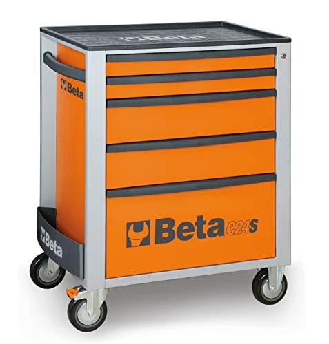 Beta C24S/5-R Cassettiera per Attrezzi Portatile con 5 Cassetti - Rosso