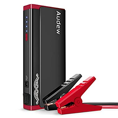 Audew Heavy Duty Jump Starter, Portable Car Jumper, Battery Booster 500A, Battery Jumper with Aluminum Alloy Shell & Upgraded Smart Jump Cable (Up to 5L Gas or 3L Diesel Engine)