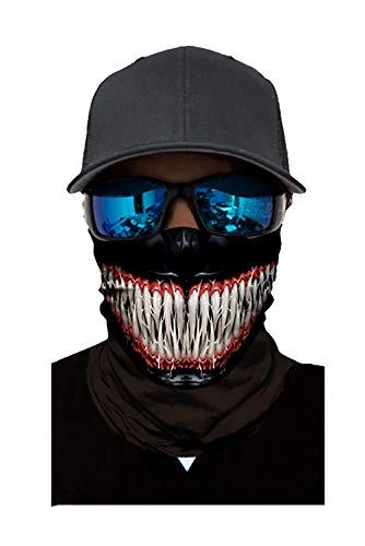 Seamless Rave Bandana Dust Wind Sun UV Protection Neck Gaiter Mask Face Scarf(d.venom)