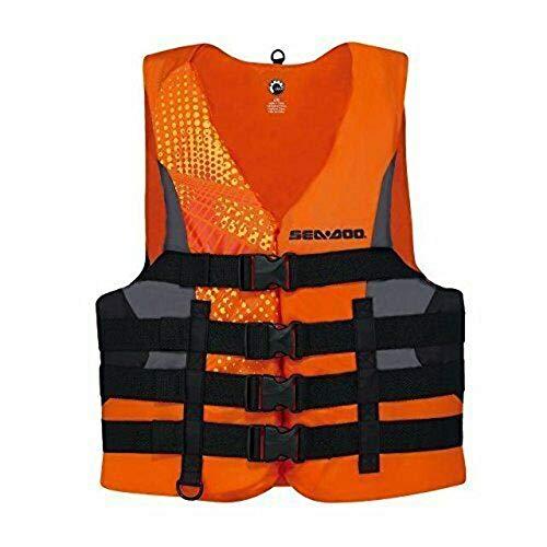 Sea-Doo BRP Men's Nylon Motion PFD Life Vest Jacket (XXX-Large, Orange)