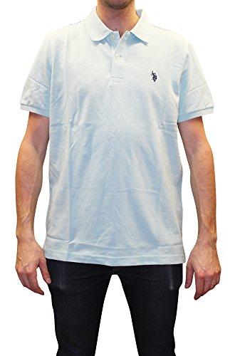 U.S. Polo Assn. Men's Classic Polo Shirt, Artist Aqua Heather, S