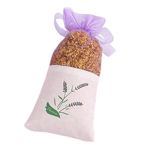 Gouen Rose bloemen Jasmijn Lavendel Bud Gedroogde Bloem Zakje zak Aromatherapie kledingkast droogmiddel zakje auto kamer luchtverfrissend, Osmanthus