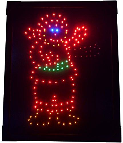 CHRISTMAS CONCEPTS LTD Light Up de Santa Image avec des lumières LED - Décoration de Noël