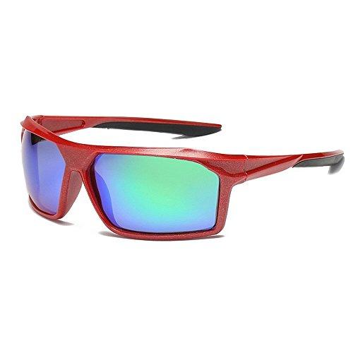Sunglass Fashion Oversized Full Frame Sports Swatsesses Duradera polarizada Lente de Color UV400 Protección de conducción Ciclismo Correr Pesca (Color : Red)