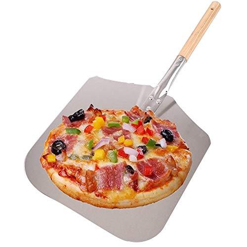 AllRight Pizzaschaufel Pizzaschieber Aluminium,Holzgriff Brotschieber für Backofen,mit großer Fläche - 30,5cm x 35,5cm x 79cm