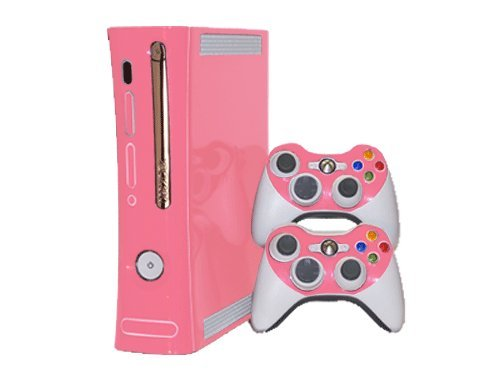Soft Pink Vinyl Decal Faceplate Mod Skin Kit for Microsoft Xbox 360 Console by System Skins