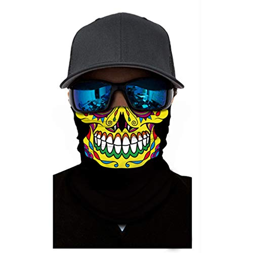 ZWXIN 3D Halstuch Kopftuch Radfahren Multifunktionstuch Stirnband Winddicht Motorradmaske Skifahren Kopf Wrap Sturmmaske Snowboarden Warm Neck Gaiter Bandana Halloween