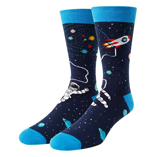 Zmart Mens Space Socks Astronaut Rocket Socks Space Gifts for Space Lovers