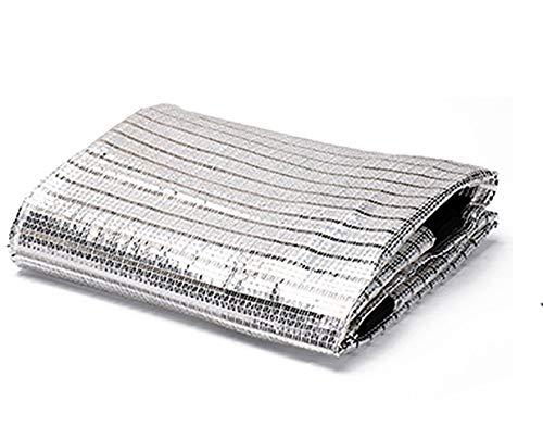 Schaduw Netting Zilver Wit Balkon Reflecterende Aluminium Folie Balkon Patio Villa Schaduw Outdoor Meerdere Maten 4mx5m ZILVER