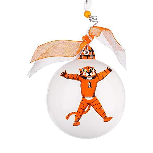 Glory Haus Ceramic Collegiate Mascot Ball Ornament (Clemson)