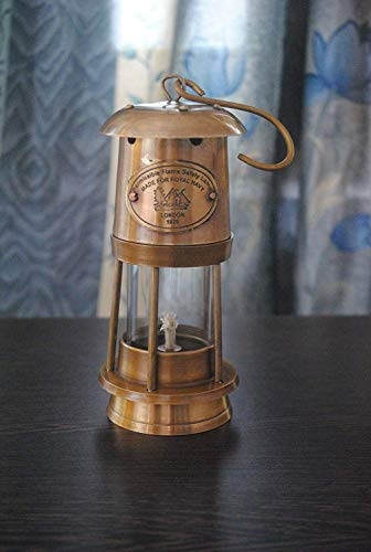 Antique Warehouse Lampe nautique en laiton pour mineur fait à la main Lanterne à huile de collection Marine Bateau Éclairage décoratif