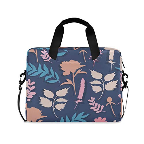 Wild Flowers of Plants Laptop Shoulder Messenger Bag with Strap for 15.6 inch 16 inch Laptop Travel-Friendly Briefcase Notebook Computer Sleeve Case