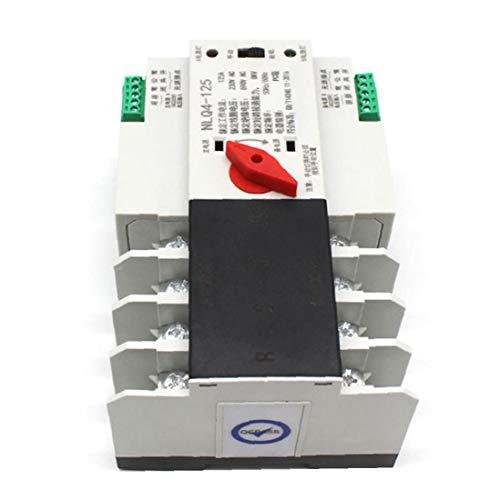 xiaocheng Interruptor de Transferencia automática de Doble Potencia de CA 380V 4P 100A del Interruptor eléctrico Electricidad Seguridad para Carril DIN Kit de Trabajo de Bricolaje Industrial