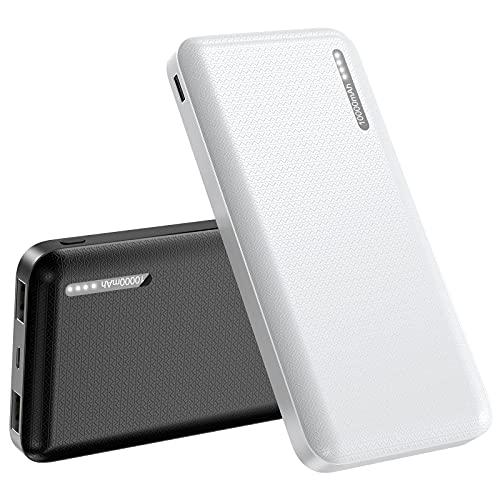 Batería Externa 10000mAh, 【2 Pack】 Cargador Móvil Portátil Batería Externa Carga Rapida Power Bank con 2 Salidas USB 2,4A para Huawei Samsung Nintendo Switch y Tabletas
