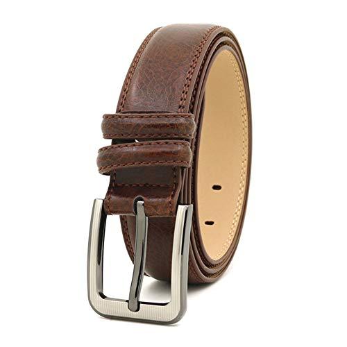GUOCU Cinturón De Hombres Hebilla Negocio Clásico Cinturón Durable Cuero Cinturón Conveniente Para Los Pantalones Vaqueros Del Traje Para Hombres Cinturón Casual
